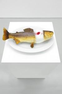 © Pierre Schwartz / Fish With Bandage On Porcelain Plate, Collection Antoine de Galbert, Paris