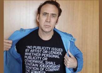 Nicolas Cage, Anton Yelchin, Nicolas Winding et  Paul Schrader le disent avec leur t-shirt