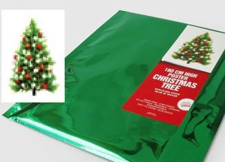 Poster sapin de Noël décoré
