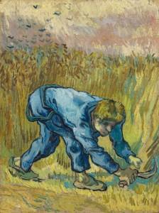 Le moissonneur (1889), huile sur toile d'après Jean-François Millet, 44 x 33 cm © Van Gogh Museum, Amsterdam (Vincent van Gogh Foundation)