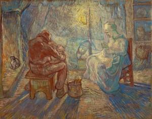 La veillée (d'après Jean-François Millet), 1889, Huile sur toile, 74,2 x 93 cm © Van Gogh Museum, Amsterdam (Vincent van Gogh Foundation), inv. s174V/1962