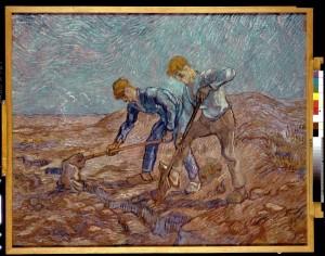 Les bêcheurs (d'après Jean-François Millet), 1889, Peinture à l'huile , 72 x 93 cm © Collectie Stedelijk Museum Amsterdam