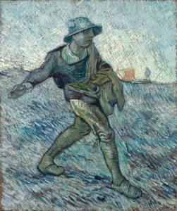 Le semeur (d'après Jean-François Millet), 1890, Huile sur toile, 64 x 55 cm, Coll. Kröller-Müller Museum, Otterloo, inv. KM 110.673 © Stichting Kröller-Müller Museum