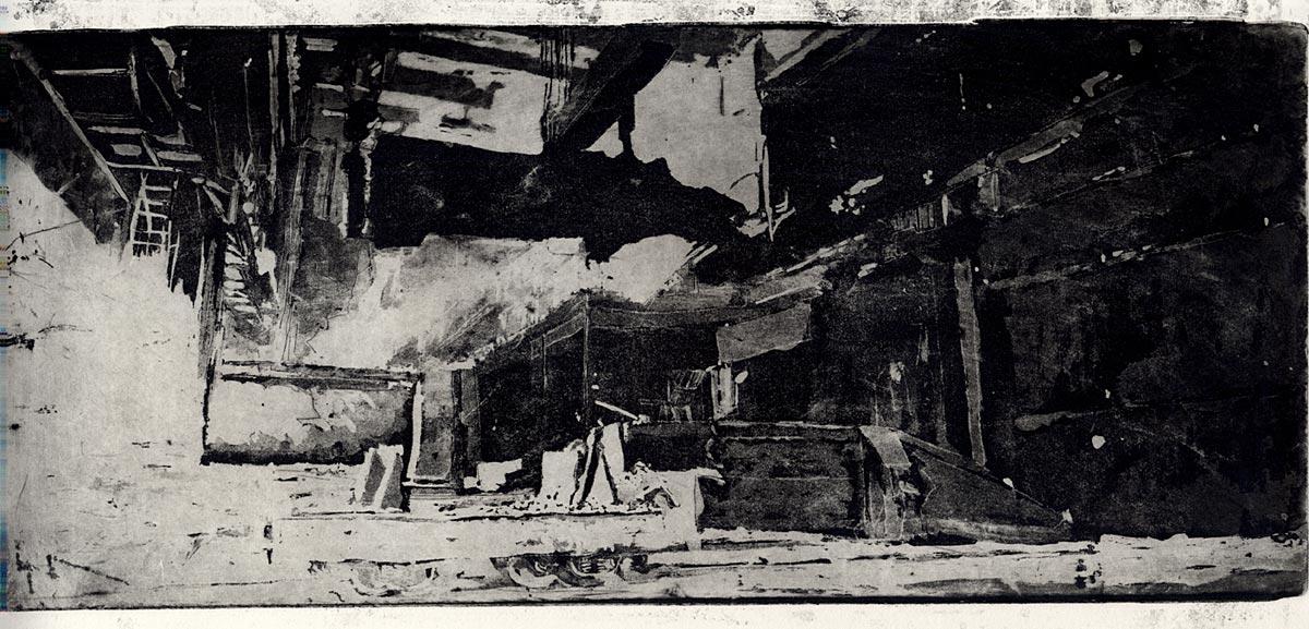 Une vignette de Moloch, représentant un plan de l'intérieur de l'usine