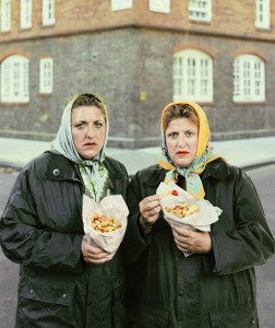 David Stewart, Sisters in Scarfs Eating Pimlico Chips