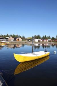 Lac Jukkasjarvi, près de Kiruna, Laponie (Suède).