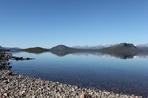 Lac Tornetrask, près de Kiruna (Suède).