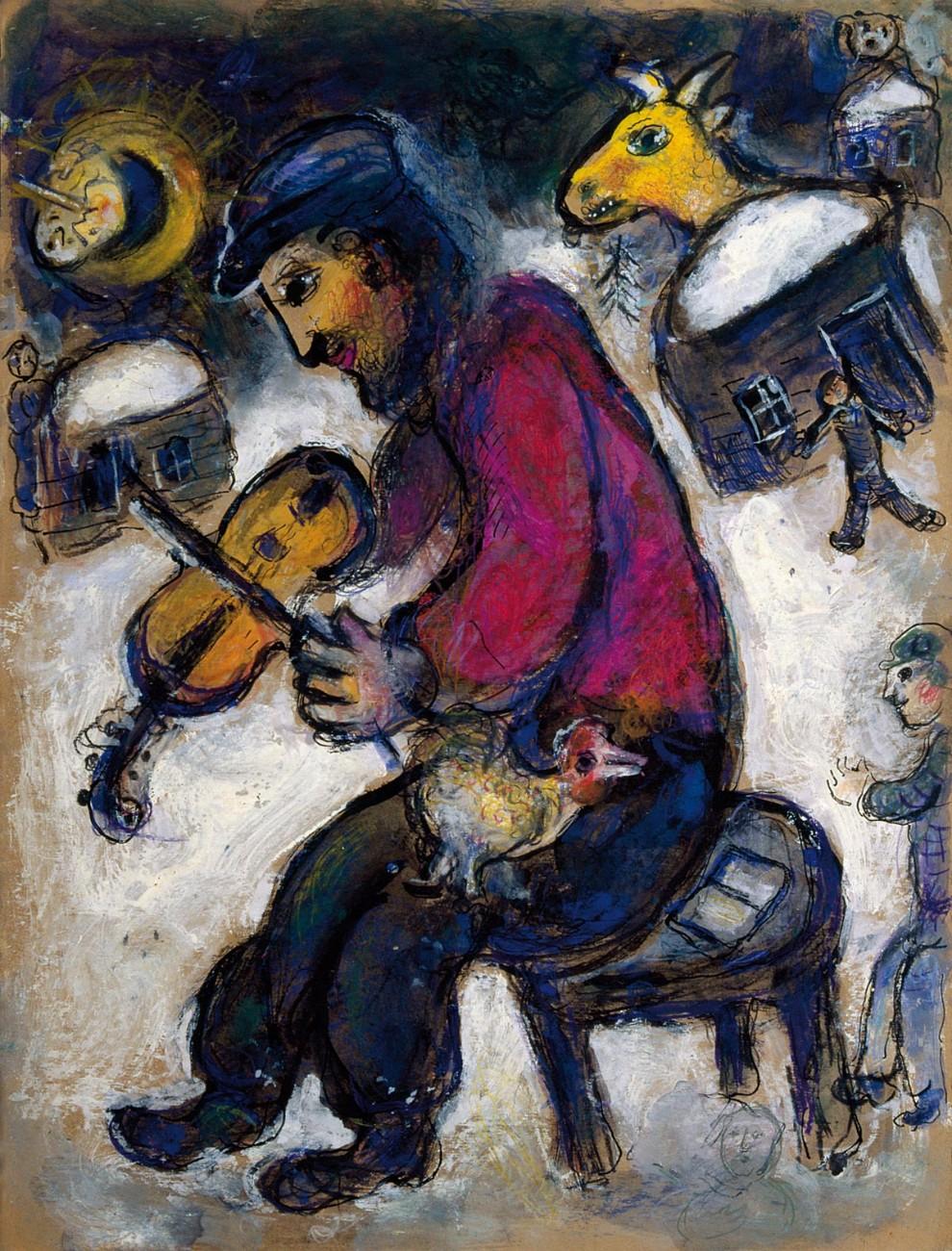 Chagall lm magazine for Peinture resinance