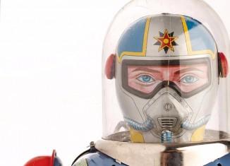 Robot Astronaut automatic actions, métal et plastique, de marque DAIYA (Japon), 1950-1960 © Musée du Jouet de Ferrières