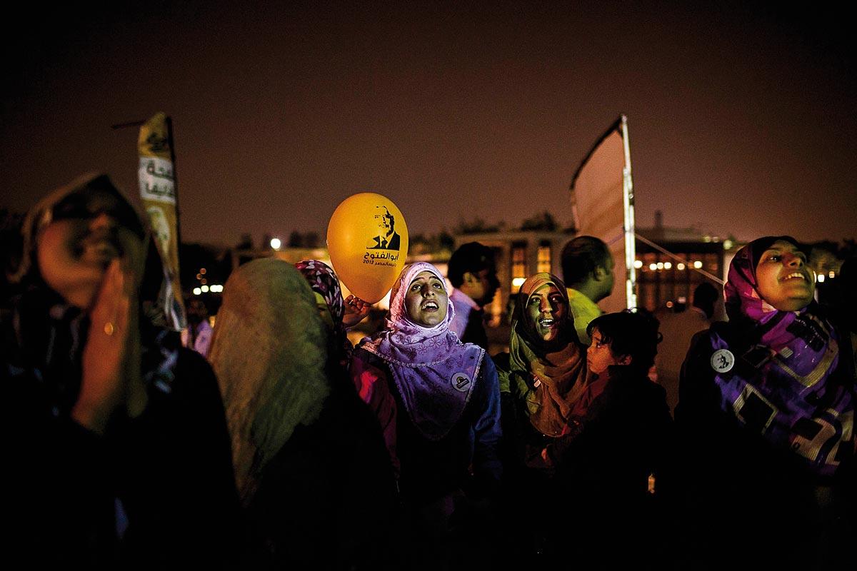 Un meeting de campagne présidentielle au Parc Al Azhar. Le 2 avril 2012.