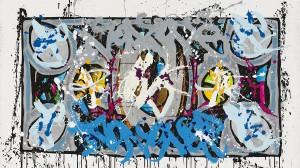 Dream Chasers, 2015, Acrylique et encre sur toile, 102 x 184 cm