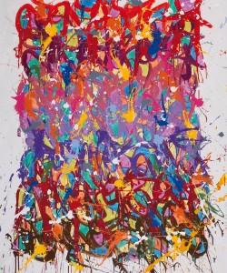 Primary colours, 2013, Acrylique sur toile, 163 x 130 cm