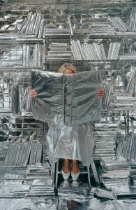 Rachel Perry_Lost in My Life (wrapped books)_©Rachel Perry
