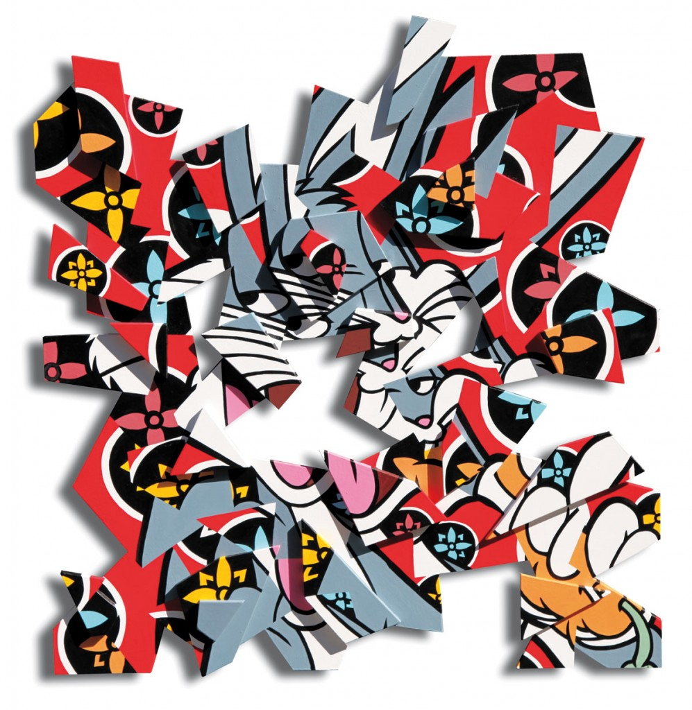 Atomised Bunny, 2013, 100 x 100 cm