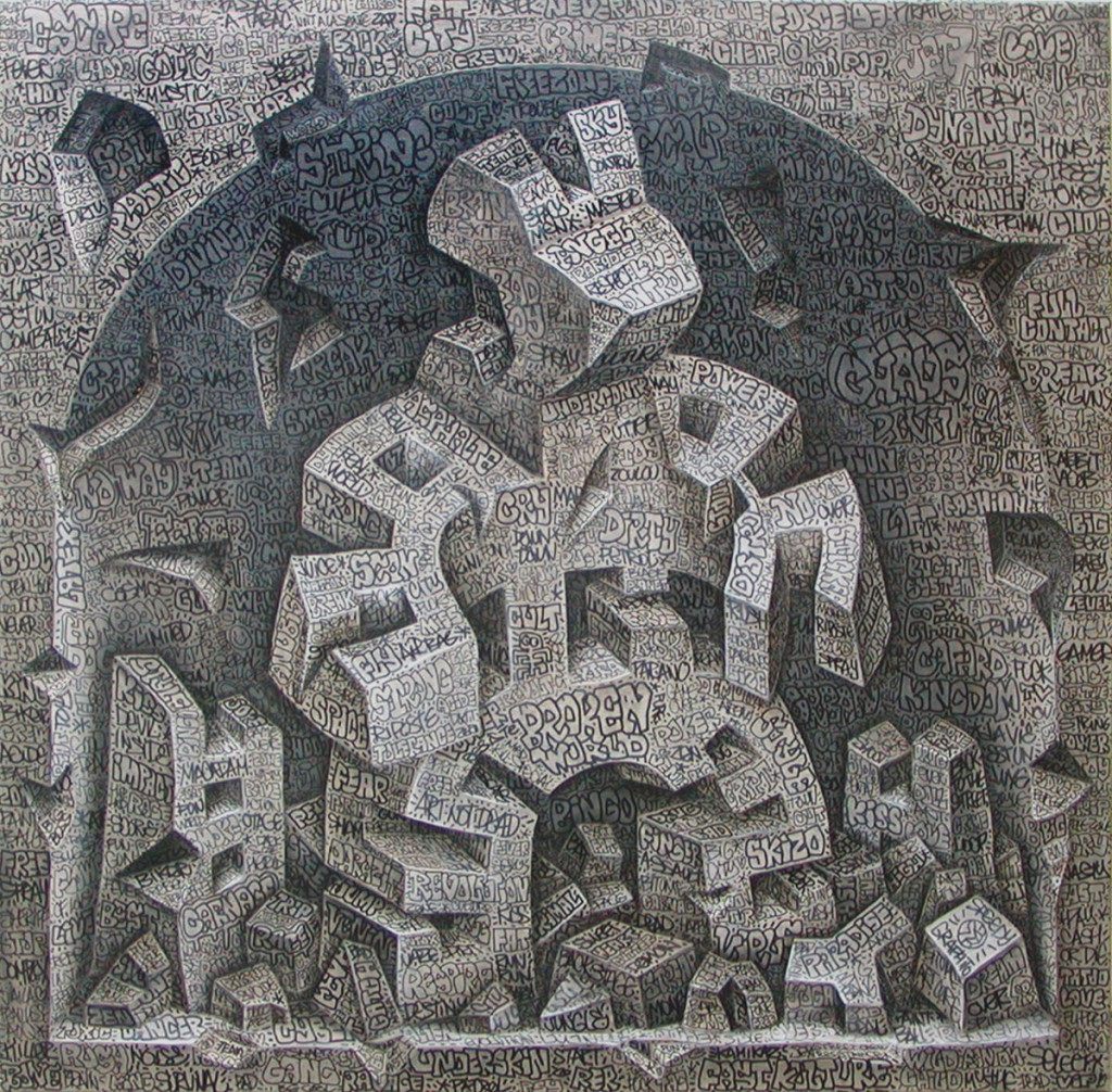 Broken World, 2006 100 x 100 cm