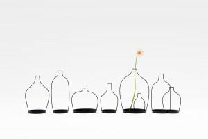 Nendo, vase, thin black lines series, 2010.
