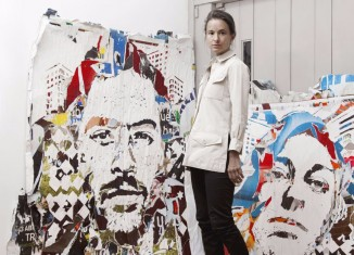 Photo : Magda Danysz / Vhils © Celine Barrère
