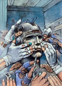 Enki Bilal, Couverture nouvelle édition d'Exterminateur 17