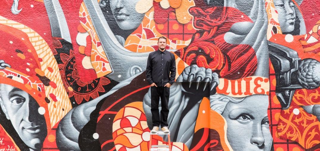 Tristan Eaton, Bern's mural © Pezz photo