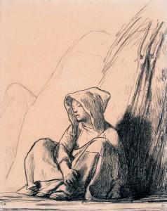 Millet Jean-Franois (1814-1875). Paris, musŽe d'Orsay, conservŽ au musŽe du Louvre. RF4161-recto.