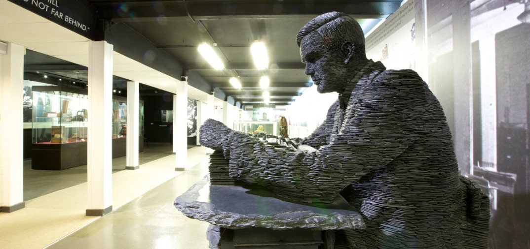 Turing Slate Statue by Stephen Kettle