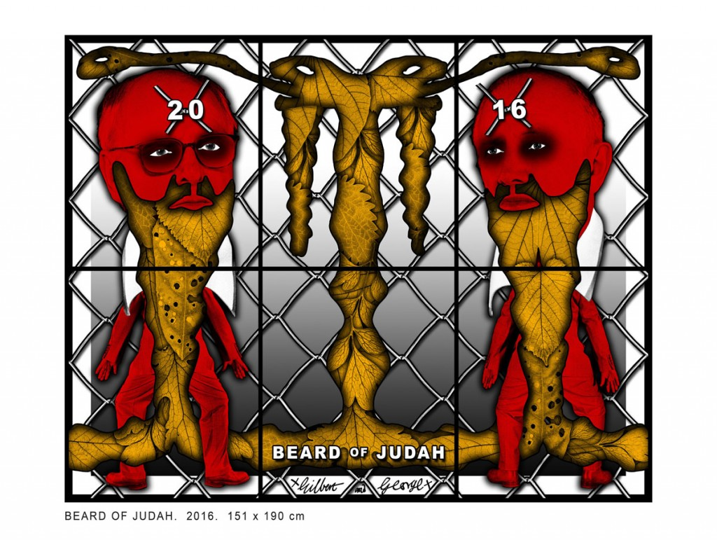 2016, Beard Of Judah © Gilbert & George © Galerie Baronian