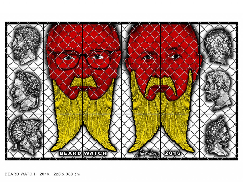 Beard Watch, 2016 © Gilbert & George / Galerie Baronian