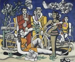 Fernand Léger, Les Loisirs-Hommage à Louis David, 1948 – 1949 Huile sur toile, 154 x 185 cm Achat de l'Etat, 1950 Attribution, 1950 numéro d'inventaire : AM 2992 BIS P Collection Centre Pompidou, Paris - Musée national d'art moderne - Centre de création industrielle © Centre Pompidou, MNAM-CCI/Jean-François Tomasian/Dist. RMN-GP © SABAM Belgium 2018