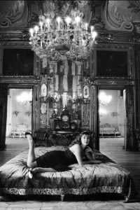 THE LAST LEOPARD - Donna Bianca Vanni Calvello Mantegna dei Principi di San Vincenzo Palazzo Valguarnera - Gangi Palermo 1991 © Shobha Battaglia