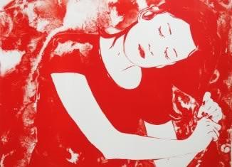 Francoise Pétrovitch, La fille aux cheveux rouges, 2017, lithographie © Collection de la Ville de La Louvière