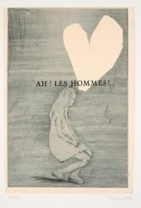 Françoise Pétrovitch, Ah ! Les hommes !…, 1998, Monotype sur Arches, 38 x 28 cm © Centre de la Gravure de La Louvière