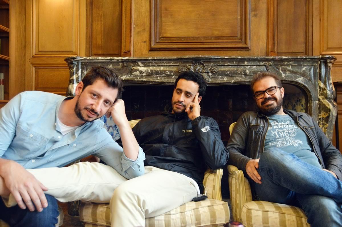 Monsieur Poulpe, Jonathan Cohen et Xavier Gens © Angélique Passebosc