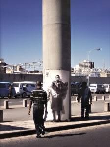 M 13 EPE Warwick (Durban) XXIII 2002 © Ernest Pignon-Ernest Courtesy Galerie Lelong & Co