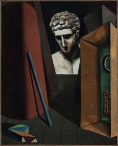 Giorgio de Chirico, Mélancolie hermétique, 1919, huile sur toile, 62 x 49,5 cm, Musée d'Art moderne de la Ville de Paris © Musée d'Art Moderne/Roger-Viollet © SABAM Belgium 2019
