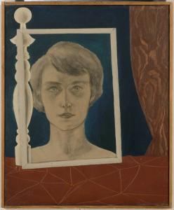 René Magritte, Portrait de Georgette au bilboquet, 1926, 55 x 45 cm © Centre Pompidou, MNAM-CCI, Dist. RMN-Grand Palais / C. Bahier / P. Migeat © Succession R. Magritte – SABAM belgium 2019