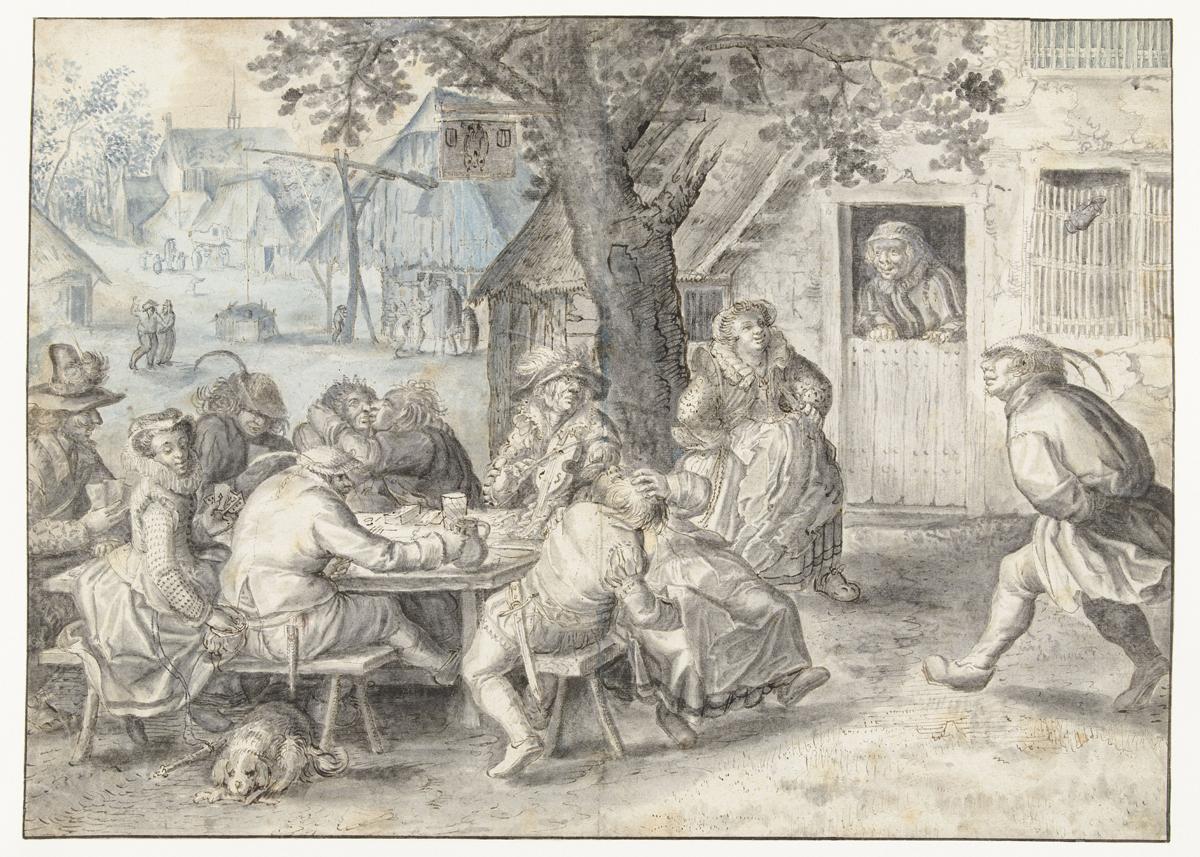 Fêtes de Brueghel_LM 149_Amsterdam-Rijksmuseum-David-Vinckboons-Paysans-et-soldats-faisant-la-fête