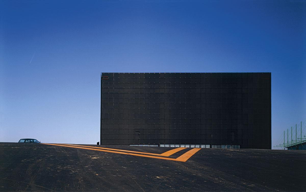 Onyx, centre culturel à Saint-Herblain (Loire-Atlantique). Myrto Vitart architecte pour Jean Nouvel et Associés, 1987-1988 © Georges Fessy, 1988