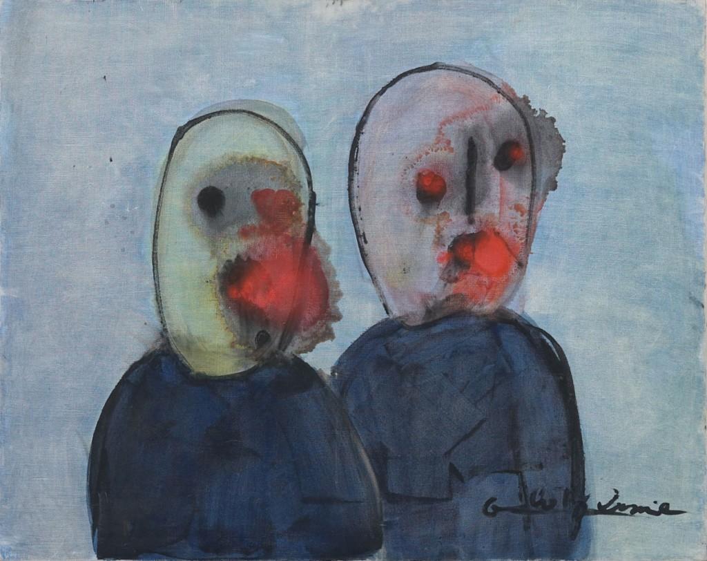 Gérard ZLOTYKAMIEN, Ephémères,-1962---Huile-et-encre-sur-toile,-73-x-92-cm collection privée