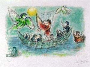 Ulysse et les Sirènes, Marc Chagall, 1974-75, lithographie ; Nice, Musée Chagall © musées nationaux du XXème siècle des Alpes-Maritimes / Photo Patrick Gérin 2006 ; © 2019 ADAGP, Paris