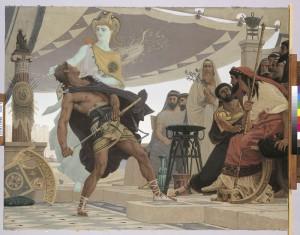 La colère d'Achille, Fournier, Louis Edouard, 1881 © Beaux-Arts de Paris, Dist. RMN-Grand Palais