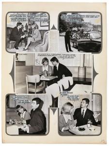 Planche de la maquette originale du roman-photo Un Amour impossible, France, années 1960. Collection particulière. ©DR. Cliché : Josselin Rocher