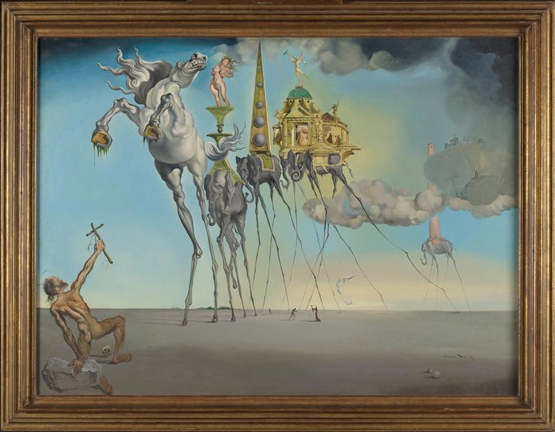 Salvador Dalí, La Tentation de Saint-Antoine, 1946 © Salvador Dalí, Fundació Gala-Salvador Dalí, Figueres - photo : J. Geleyns - Art Photography
