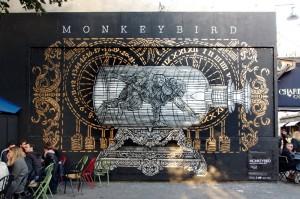 Le mur d'Oberkampf, Paris © MONKEYBIRD crew - Photo ©Ema Kawanago