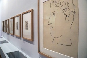 Vue d'exposition (portrait d'Appolinaire) © Photo Julien Damien