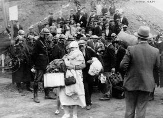 Expulsion de familles polonaises de Leforest suite à une grève, 12 août 1934
