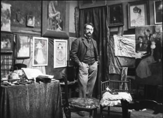 Henri Matisse dans l'atelier d'Henri Evenepoel, Paris, Avenue de la Motte-Picquet, octobre 1897. Musées Royaux des beaux-arts de Belgique Fonds Henri Evenepoel © DR
