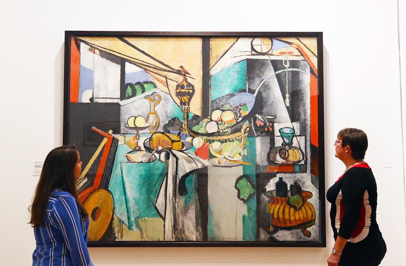 Vue d'exposition, Nature morte d'après La Desserte de Jan Davidsz de Heem, H. Matisse © Musée Matisse