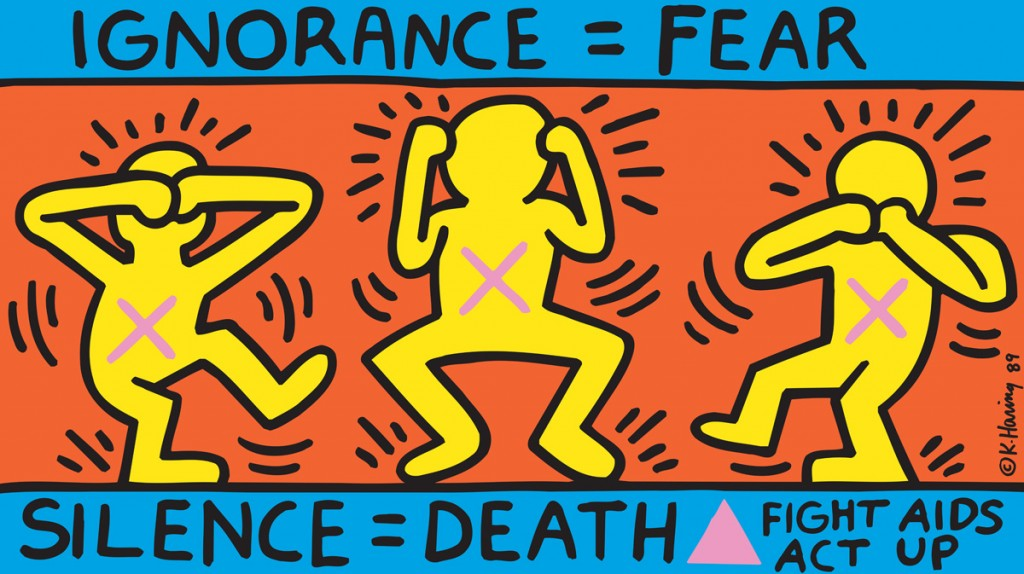 Ignorance = Fear, 1989, Poster 660 x 1141 mm © Keith Haring Foundation / Collection Noirmontartproduction, Paris