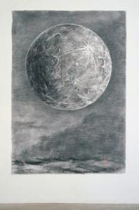 William Kentridge Moon, 2004, Frac Picardie, Amiens. Photo : André Morin. © William Kentridge / Courtesy de l'artiste