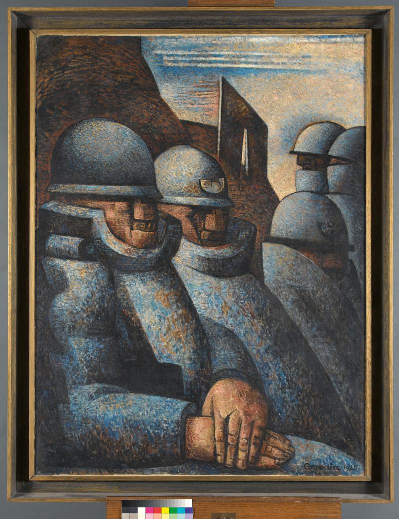 Marcel Gromaire, La Guerre, 1925. Huile sur toile, 130 × 97 cm. Paris, Musée d'Art moderne de la Ville. Photo : Julien Vidal/Parisienne de Photographie © ADAGP, Paris 2020